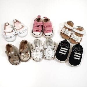 CONVERSE BABY GIRL SHOE LOT SIZE 2